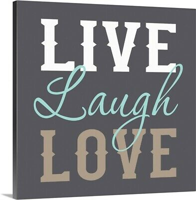 Live Laugh Love Canvas Wall Art Print, Inspirational Home Decor • 78.02£