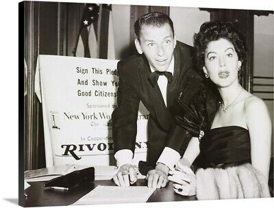 Frank Sinatra And Ava Gardner Canvas Wall Art Print, Celebrity Home Decor • 264.10£