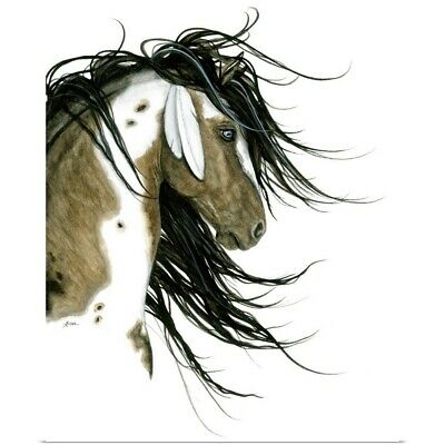 $18.74 • Buy Majestic Horse White Feathers Poster Art Print, Horse Home Decor