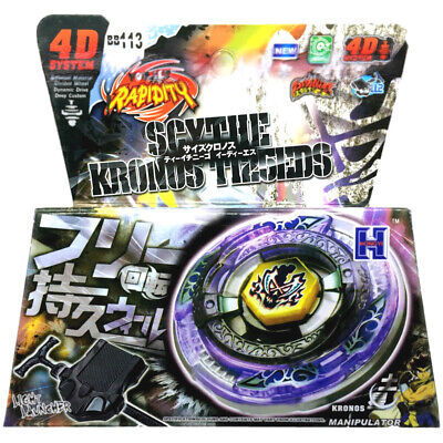 $7.69 • Buy Scythe Kronos T125EDS Beyblade BB113 Metal Fury Cronos STARTER SET WITH LAUNCHER
