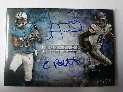 $24.99 • Buy 2013 Topps Inception - Cordarrelle Patterson/Justin Hunter Dual RC Auto #d 04/25