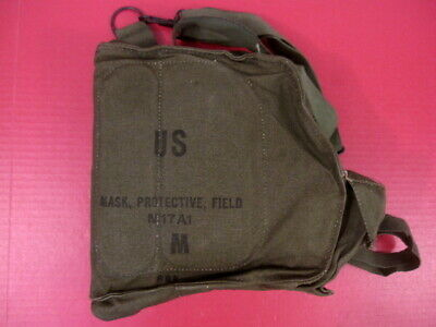 $19.99 • Buy Vietnam Era US Army M17A1 Series Canvas Gas Mask Carry Bag W/Straps - Unissued