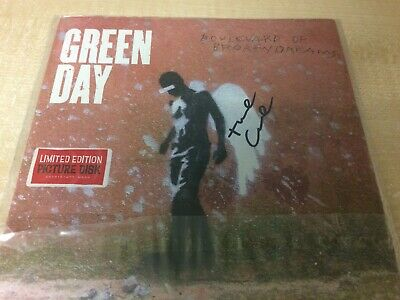 """Green Day - Boulevard Of Broken Dreams 7"""" Picture Disc Vinyl Record Signed Cover • 49.99£"""