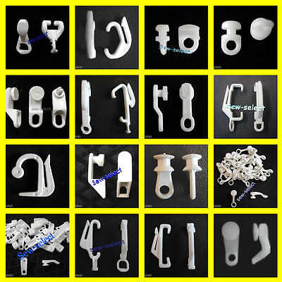£18.26 • Buy 100 Curtain Track Gliders Glide Hooks Runners Pole Slides - Rail Tracking Parts