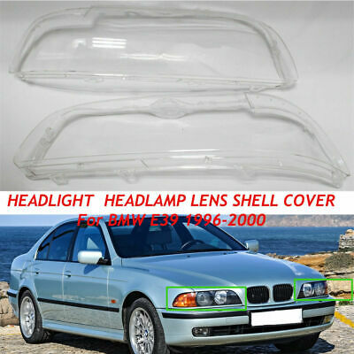 $90.14 • Buy Pair Headlight Lens Cover Replacement DIY For BMW 5 Series E39 1995-2002