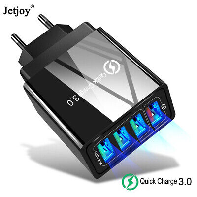 $ CDN3.74 • Buy 4 Port Fast Quick Charge QC3.0 USB Hub Wall Charger Power Adapter US EU UK Plug