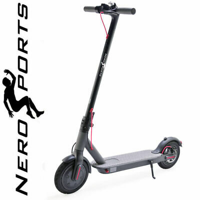View Details Electric Scooter Folding E-Scooter Nero Sports Adult Kids Black Kick Push New UK • 179.99£