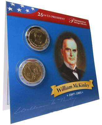 $15.80 • Buy 2013 P&D $1 William McKinley Presidential 2 Coin Set Uncirculated Bifold