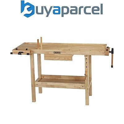 £254.95 • Buy Draper Heavy Duty Hardwood Lacquered Carpenters Workbench Table With Vice 83440