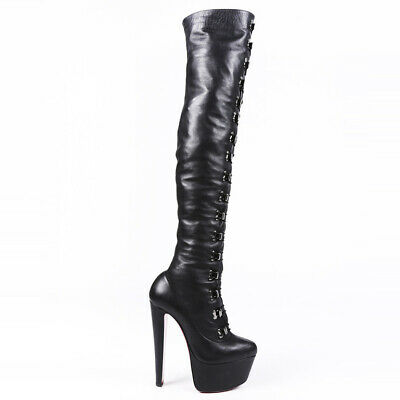 outlet store 6964d 9f086 christian louboutin over the knee boots