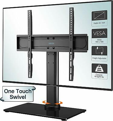 "Table Top Pedestal TV Stand For 26 32 37 40 42 43 50 55"" LED LCD Screen Swivel  • 19.99£"