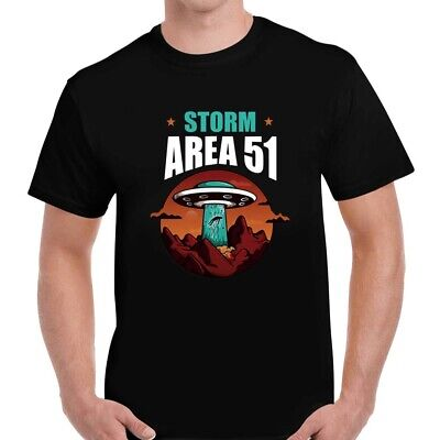 Storm Area 51 T-Shirt, Invading Alien Area Funny Adult Unisex Tee Top Gift Mens • 8.99£