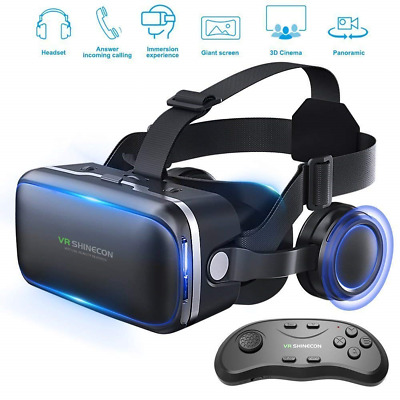 AU39.57 • Buy VR Headset 3d Glasses Virtual Reality For Games & 3D Movies + Remote Gamepad Hot