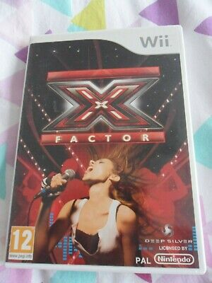 Wii X Factor Game, Pegi 12, 28 Tracks To Sing Along To Rock/diva/pop! • 7£