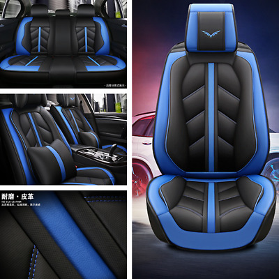 $ CDN192.31 • Buy Car Seat Cover Protector Cushion Front Rear Full Set Leather Interior Accessorie