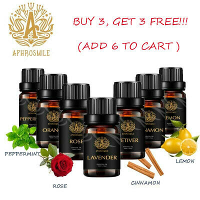 AU12.99 • Buy APHROSMILE 100% Pure &Natural Essential Oil For Aromatherapy Diffuser Grade Oils