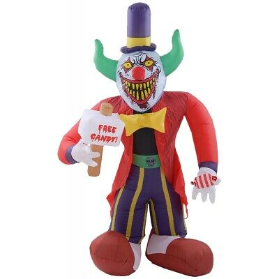 $ CDN106.23 • Buy Outdoor Halloween Decorations Free Candy Scary Clown Inflatable Airblown 7' Yard