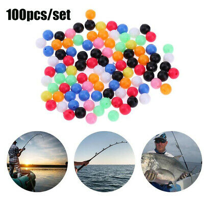 AU7.70 • Buy Plastic Mixed Color Round Fishing Cross Beads Drill  Floats Balls Double Pearl
