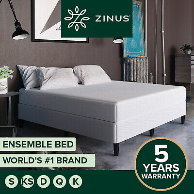 AU199 • Buy Zinus Queen Double King Single Standing Fabric Bed Base Mattress Ensemble Frame