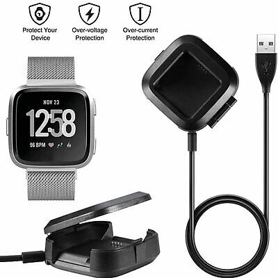 $ CDN6.65 • Buy USB Charging Cable Replacement Charger Cradle Dock For Fitbit Versa Watch Black