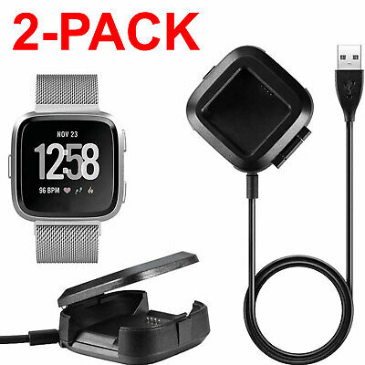 $ CDN10.47 • Buy USB Charging Cable Replacement Charger Cradle Dock For Fitbit Versa Watch Black