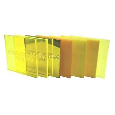 Yellow Colour, Tint & Mirror Perspex Acrylic Plastic Sheets 3mm & 5mm Thickness • 32.71£