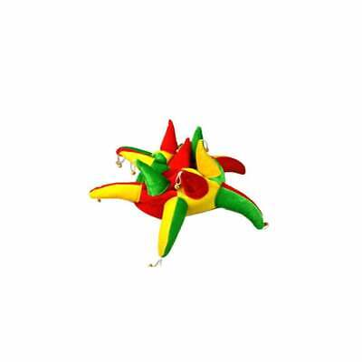 Red Green & Yellow Jester Hat With Bells • 9.99£