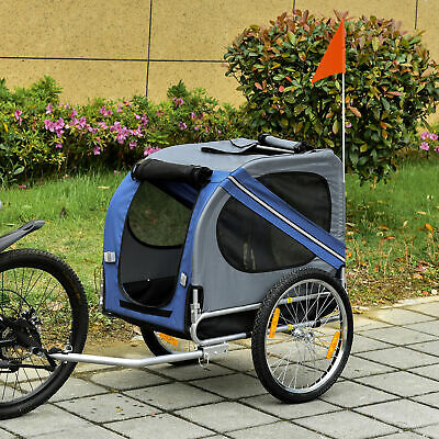 View Details Pet Bicycle Trailer Dog Cat Bike Carrier Water Resistant Blue Outdoor • 73.99£