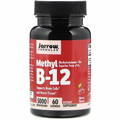 Jarrow Formulas, Methyl B-12, Cherry 5000 Mcg, 60 Lozenges Methylcobalamin • 26.99£