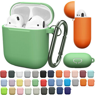 $ CDN7.48 • Buy For Apple AirPods Case Protector Silicone Cover Earphone Charger Case KeyChain