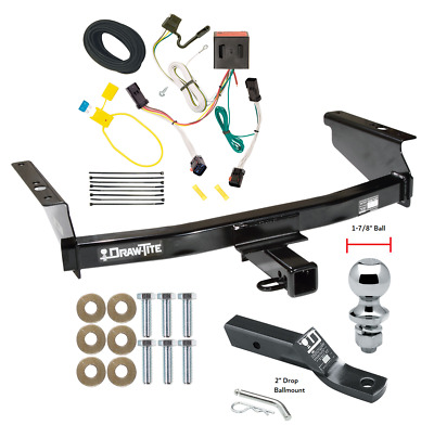 $244.56 • Buy Trailer Tow Hitch For 02-07 Jeep Liberty Complete Package W/ Wiring 1-7/8  Ball