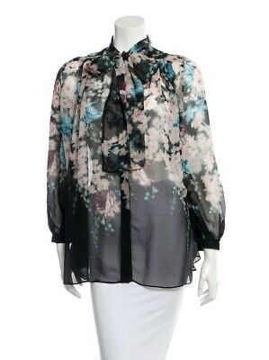 $99 • Buy Zimmermann Silk Floral Bow Top Designer 0 Or XS