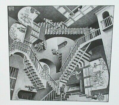 $99.99 • Buy M.c. Escher  Relativity  Black And White Lithograph