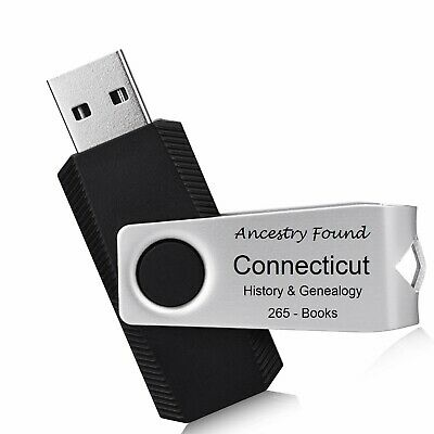 £8.68 • Buy CONNECTICUT - History & Genealogy -265 Old Books On FLASH DRIVE - County, CT