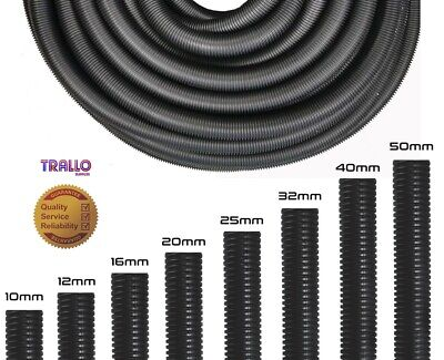 £11.98 • Buy Quality Polypropylene Solid & Split Black Conduit - Cable Tidy-Cable Management