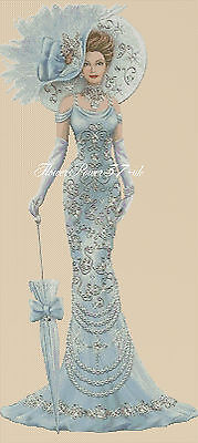 Cross Stitch Chart   Elegant Lady 156 Full Length     Flowerpower37-uk • 3.75£