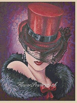 Cross Stitch Chart   Elegant Lady  No 192b FlowerPower37-uk  • 3.75£