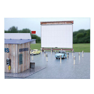 $ CDN23.93 • Buy 1:87 HO Train Scale  Drive In Theatre  Photo Real Architecture Building Kit Set
