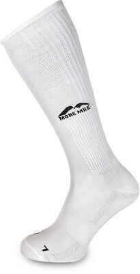 More Mile California Compression Socks White Sports Performance Recovery Sock • 4.95£