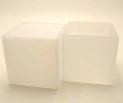 Perspex® Acrylic Plastic Cube Display Frosted Opal 5 Sided Box Tray Retail Shop  • 13.74£