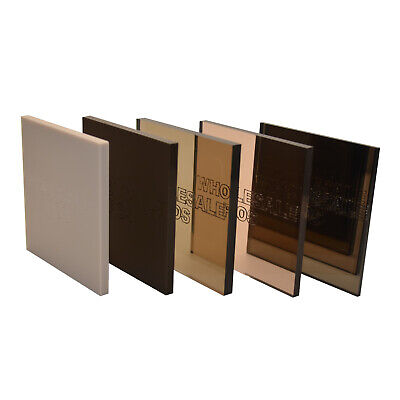 Bronze/Brown Colour, Mirror & Tinted Perspex® Acrylic Plastic Sheets  • 46.62£