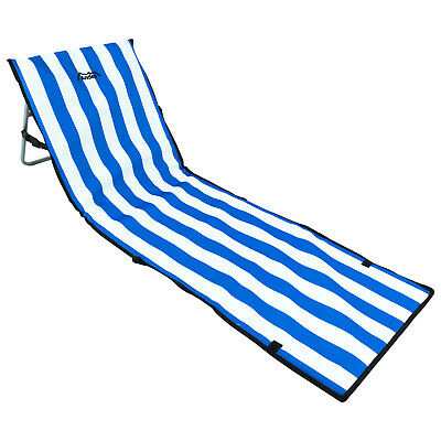 Sunsign Light-Weight Folding Beach Mat Lounge Chair with Backrest Portable Compact Easy Set-Up for Beach Poolside Camping Backyard Patio