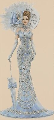 Cross Stitch Chart  Elegant Lady 156 Full Length  DMC Flowerpower37-uk • 3.75£