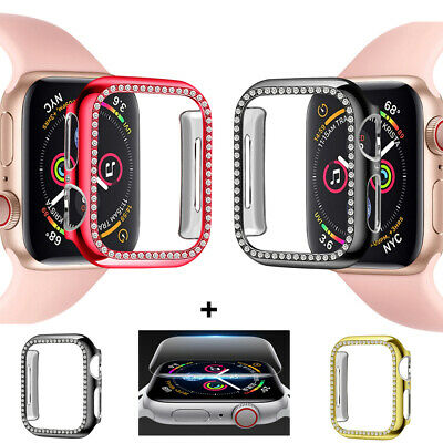$ CDN6.34 • Buy For Apple Watch Series 3 2 44mm Diamond Bumper Case Cover+ Screen Protector Film
