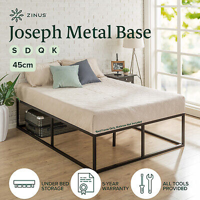 AU195 • Buy Zinus Joesph SINGLE DOUBLE QUEEN KING Metal High Bed Base Mattress Frame Timber