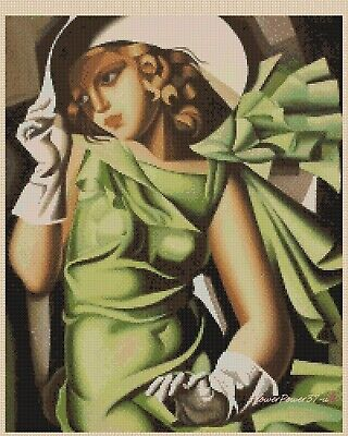 Art Deco Cross Stitch Chart  Vintage Art Deco Lady AD522   FlowerPower37-Uk • 3.50£