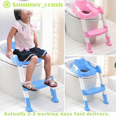 Foldable Baby Potty Infant Kids Toilet Chair Portable Training Seat With Ladder • 13.89£
