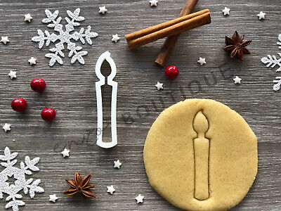 £4.29 • Buy Candle Cookie Cutter 03 | Christmas | Fondant Cake Decorating | UK Seller