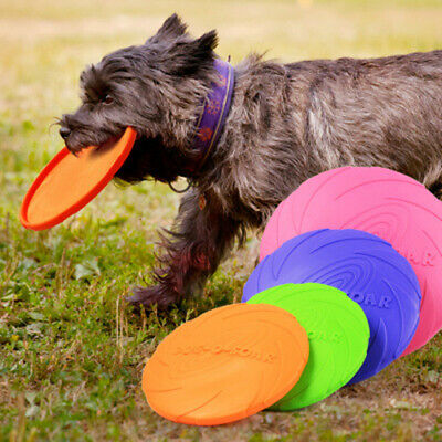 £4.99 • Buy Soft Natural Rubber Dog Frisbee Dog Toy Play Toy Throwing Flying Disc Training