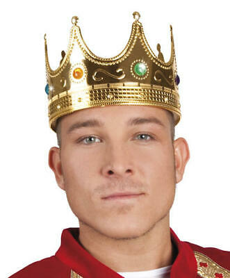 Hat King Crown Mens Fancy Dress Nativity Medieval Book Day Adult Costume Acc New • 10.99£